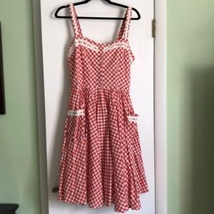 Lindy Bop Gingham sun dress